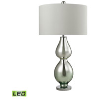 Dimond Lighting D2560-LED Double Gourd 31 inch 9.5 watt Silver Mercury and Green Accent Table Lamp Portable Light in LED