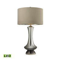 Dimond Lighting Signature 1 Light LED Table Lamp in Silver Mercury and Bronze and Polished Nickel Glass and Metal D2574-LED