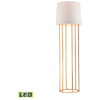 Barrel Frame 63 inch 9.5 watt Gold Leaf Floor Lamp Portable Light in LED