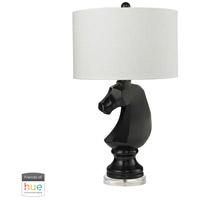 Dimond Lighting D2592-HUE-D Dark Knight 28 inch 60 watt Clear with Gloss Black Table Lamp Portable Light
