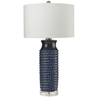 Dimond Lighting D2594 Wrapped Rope 30 inch 150 watt Navy Blue Table Lamp Portable Light in Incandescent