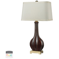 Dimond Lighting D2597-HUE-D Fluted 34 inch 60 watt Brass with Red Table Lamp Portable Light
