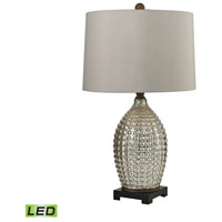 Dimond Lighting TRUMP HOME Reverse Hammered 1 Light LED Table Lamp in Antique Mercury and Bronze Glass and Composite D2601-LED