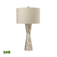 Mother of Pearl Waisted 37 inch 9.5 watt Natural Mother of Pearl Shell Table Lamp Portable Light in LED