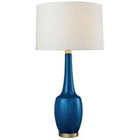 Dimond Lighting D2611NB Modern Vase 36 inch 150 watt Antique Brass/Navy Blue Table Lamp Portable Light in Incandescent, 3-Way