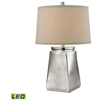 Tapered Square 25 inch 9.5 watt Silver Mercury Table Lamp Portable Light in LED