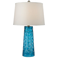 Hammered 27 inch 150 watt Blue Table Lamp Portable Light in Incandescent