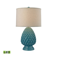 Dimond Lighting D2620-LED Acorn Ceramic 28 inch 9.5 watt Deep Seafoam Glaze Table Lamp Portable Light in LED