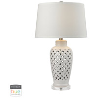 Openwork 27 inch 60 watt White Table Lamp Portable Light