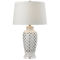 Dimond Lighting D2621 Openwork 27 inch 150 watt White Table Lamp Portable Light in Incandescent, 3-Way