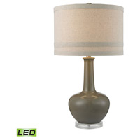 Dimond Lighting D2623-LED Ceramic 28 inch 9.5 watt Grey Glaze Table Lamp Portable Light in LED
