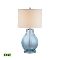Bell 29 inch 9.5 watt Translucent Light Blue Table Lamp Portable Light in LED