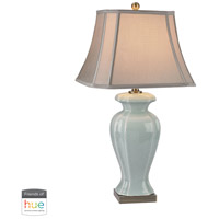 Celadon 29 inch 60 watt Brass with Green Table Lamp Portable Light