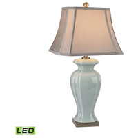 Dimond Lighting D2632-LED Ceramic 29 inch 9.5 watt Celadon and Antique Brass Table Lamp Portable Light in LED