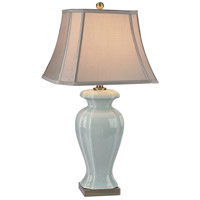 Dimond Lighting D2632 Ceramic 29 inch 150 watt Celadon and Antique Brass Table Lamp Portable Light in Incandescent