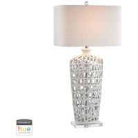 Dimond Lighting D2637-HUE-B Signature 36 inch 60 watt Crystal with Gloss White Table Lamp Portable Light