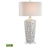Dimond Lighting D2637-LED Ceramic 36 inch 9.5 watt Gloss White Table Lamp Portable Light in LED