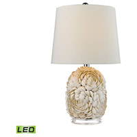 Natural Shell 23 inch 9.5 watt Natural Shell Table Lamp Portable Light in LED