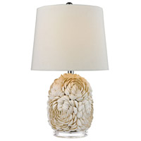 Natural Shell 23 inch 150 watt Natural Shell Table Lamp Portable Light in Incandescent