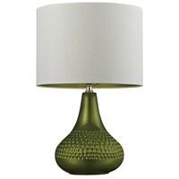 Ceramic 23 inch 9.5 watt Lime Green Table Lamp Portable Light in LED