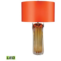Ferrara 25 inch 9.5 watt Amber Table Lamp Portable Light in LED