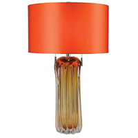 Dimond Lighting D2660 Ferrara 25 inch 60 watt Amber Table Lamp Portable Light in Incandescent