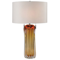 Ferrara 25 inch 60 watt Amber Table Lamp Portable Light in Incandescent