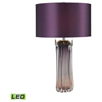 Ferrara 25 inch 9.5 watt Purple Table Lamp Portable Light in LED