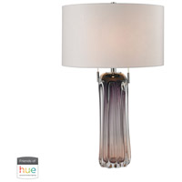 Dimond Lighting D2661W-HUE-D Ferrara 25 inch 60 watt Purple Table Lamp Portable Light