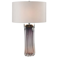 Dimond Lighting D2661W Ferrara 25 inch 60 watt Purple Table Lamp Portable Light in Incandescent