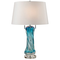 Vergato 24 inch 60 watt Blue Table Lamp Portable Light in Incandescent
