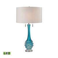 Vignola 28 inch 9.5 watt Blue Table Lamp Portable Light in LED