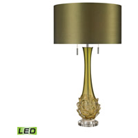 Dimond Lighting D2667-LED Vignola 28 inch 9.5 watt Green Table Lamp Portable Light in LED