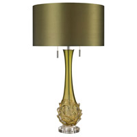 Dimond Lighting Vignola 2 Light Table Lamp in Green D2667