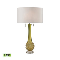 Dimond Lighting Vignola 2 Light LED Table Lamp in Green D2667W-LED