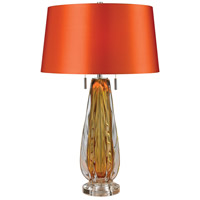 Modena 26 inch 60 watt Amber Table Lamp Portable Light in Incandescent