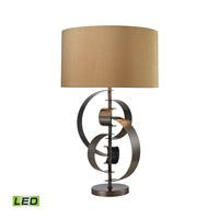 Dimond Lighting Volterra 1 Light LED Table Lamp in Dunbrook Bronze D2672-LED