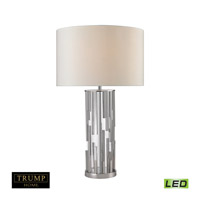 Livornio 29 inch 9.5 watt Polished Nickel and Clear Table Lamp Portable Light in LED, Trump Home