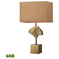 Dimond Lighting D2676-LED Vergato 27 inch 9.5 watt Aged Brass Table Lamp Portable Light in LED