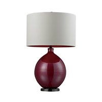 Dimond Lighting D268 Blown Glass 30 inch 150 watt Pink and Black Nickel Table Lamp Portable Light in Incandescent