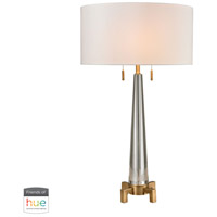 Dimond Lighting D2682-HUE-D Bedford 30 inch 60 watt Aged Brass with Clear Table Lamp Portable Light