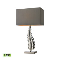 Oak Cliff 27 inch 9.5 watt Polished Nickel Table Lamp Portable Light in LED, Trump Home