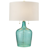 Hatteras 26 inch 60 watt Seabreeze Blue Table Lamp Portable Light in Incandescent