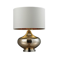 Antique Mercury Glass 26 inch 9.5 watt Gold Mercury Glass and Polished Nickel Table Lamp Portable Light in LED