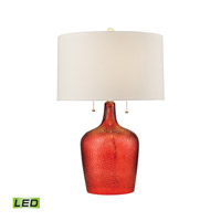 Hatteras 26 inch 9.5 watt Blood Orange Table Lamp Portable Light in LED