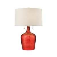 Hatteras 26 inch 60 watt Blood Orange Table Lamp Portable Light in Incandescent