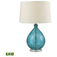 Dimond Lighting Wayfarer 1 Light LED Table Lamp in Teal D2692-LED