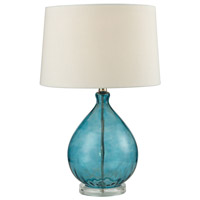 Dimond Lighting Wayfarer 1 Light Table Lamp in Teal D2692