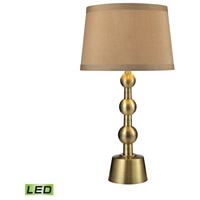 Motpelier 31 inch 9.5 watt Aged Brass Table Lamp Portable Light in LED