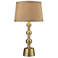 Dimond Lighting Montpelier 1 Light Table Lamp in Aged Brass D2697